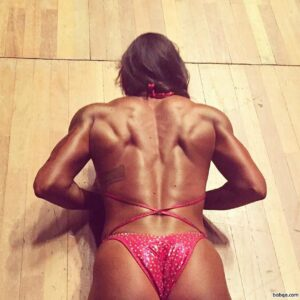 cute female bodybuilder with strong body and muscle booty repost from facebook