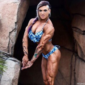 perfect girl with muscular body and toned biceps photo from reddit
