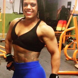 awesome female with muscular body and muscle arms photo from instagram