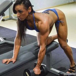 hot lady with muscle body and muscle arms photo from g+