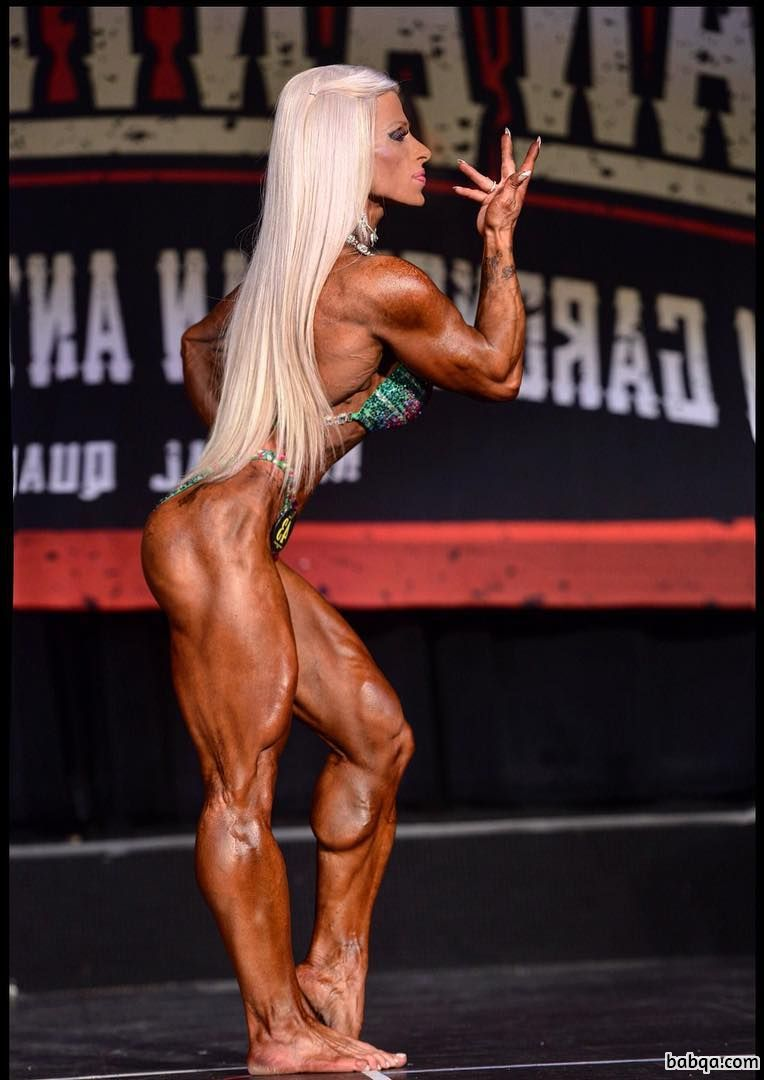 hottest woman with muscular body and toned biceps post from linkedin