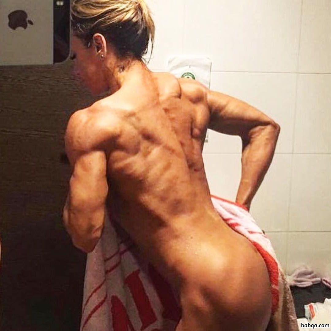 sexy female bodybuilder with fitness body and muscle ass image from instagram