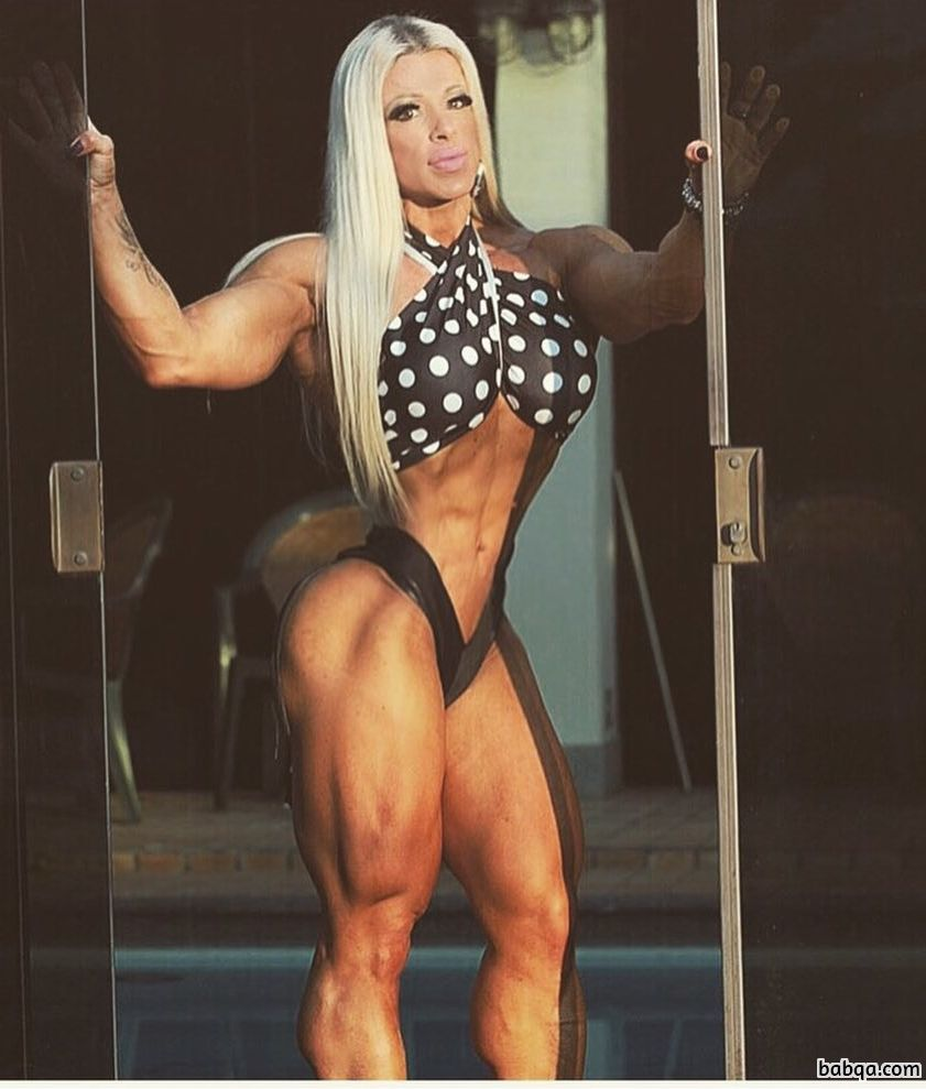 hottest lady with fitness body and muscle ass repost from reddit