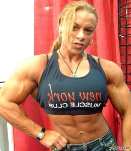perfect female bodybuilder with muscle body and toned legs pic from facebook