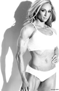 hottest female with fitness body and muscle legs photo from facebook