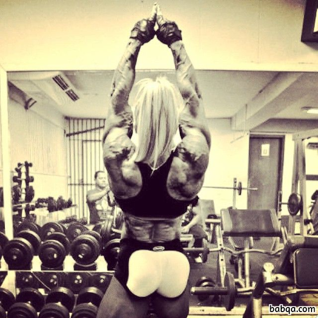 awesome chick with strong body and muscle booty photo from instagram