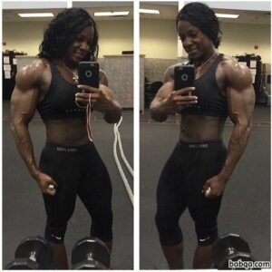 hottest female bodybuilder with muscular body and toned booty pic from g+