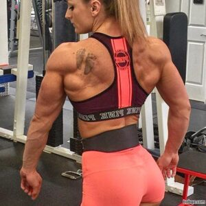 hot female with muscular body and toned biceps image from linkedin