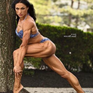 perfect female bodybuilder with fitness body and toned bottom post from linkedin