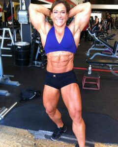 sexy female with muscular body and muscle arms photo from g+