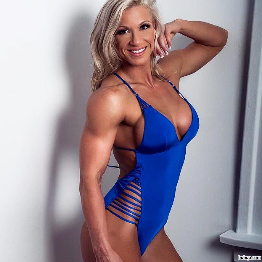 hot female bodybuilder with muscle body and toned ass picture from facebook