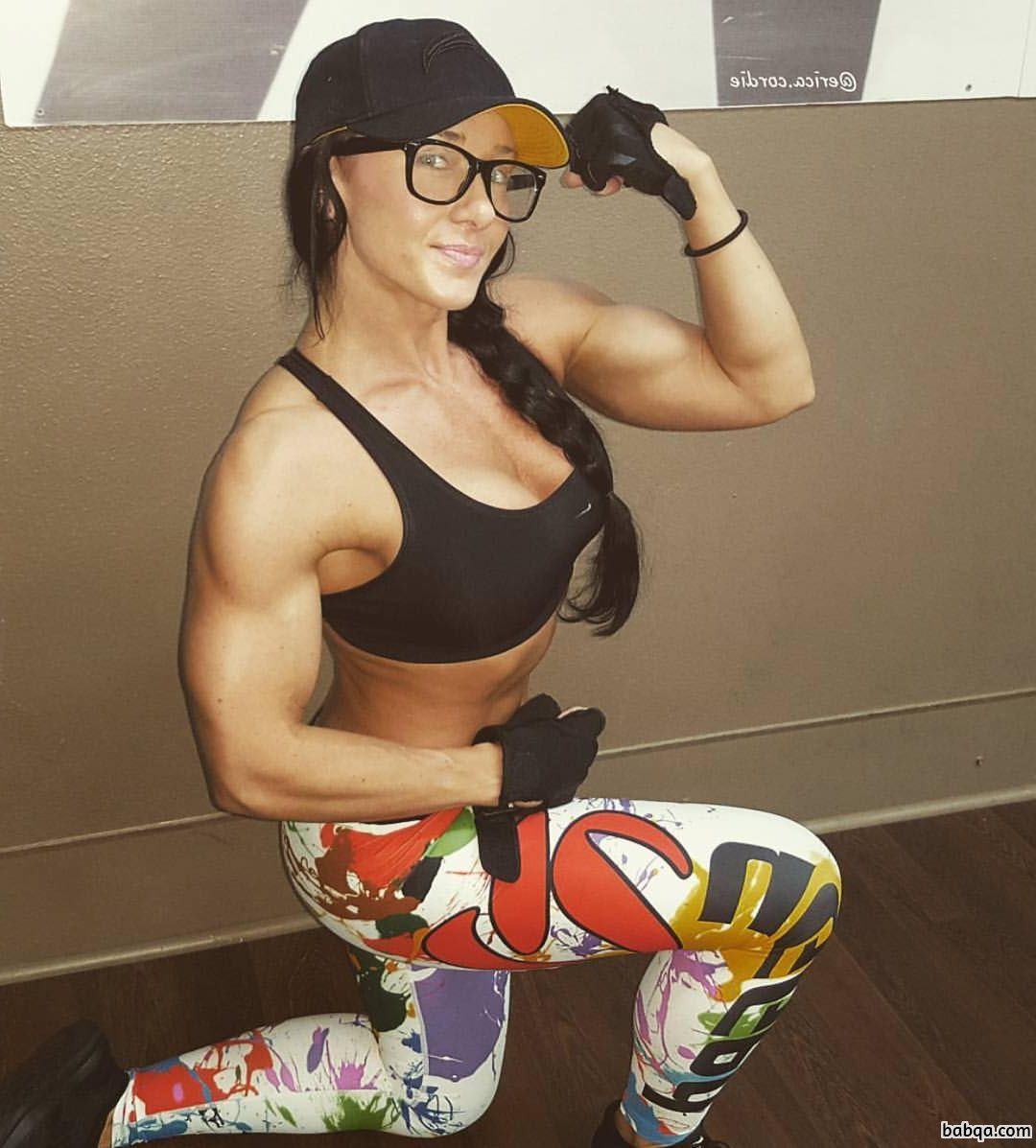 perfect female with fitness body and toned legs picture from reddit