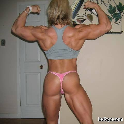sexy babe with muscular body and toned bottom image from facebook