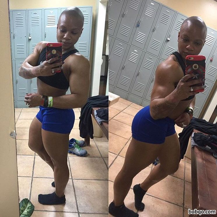 sexy female with muscular body and toned arms pic from facebook