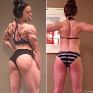 awesome lady with fitness body and muscle arms pic from reddit