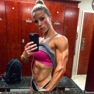 spicy female bodybuilder with strong body and toned legs picture from tumblr