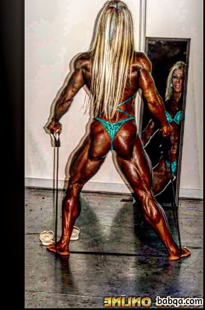 hot female bodybuilder with strong body and muscle booty image from flickr