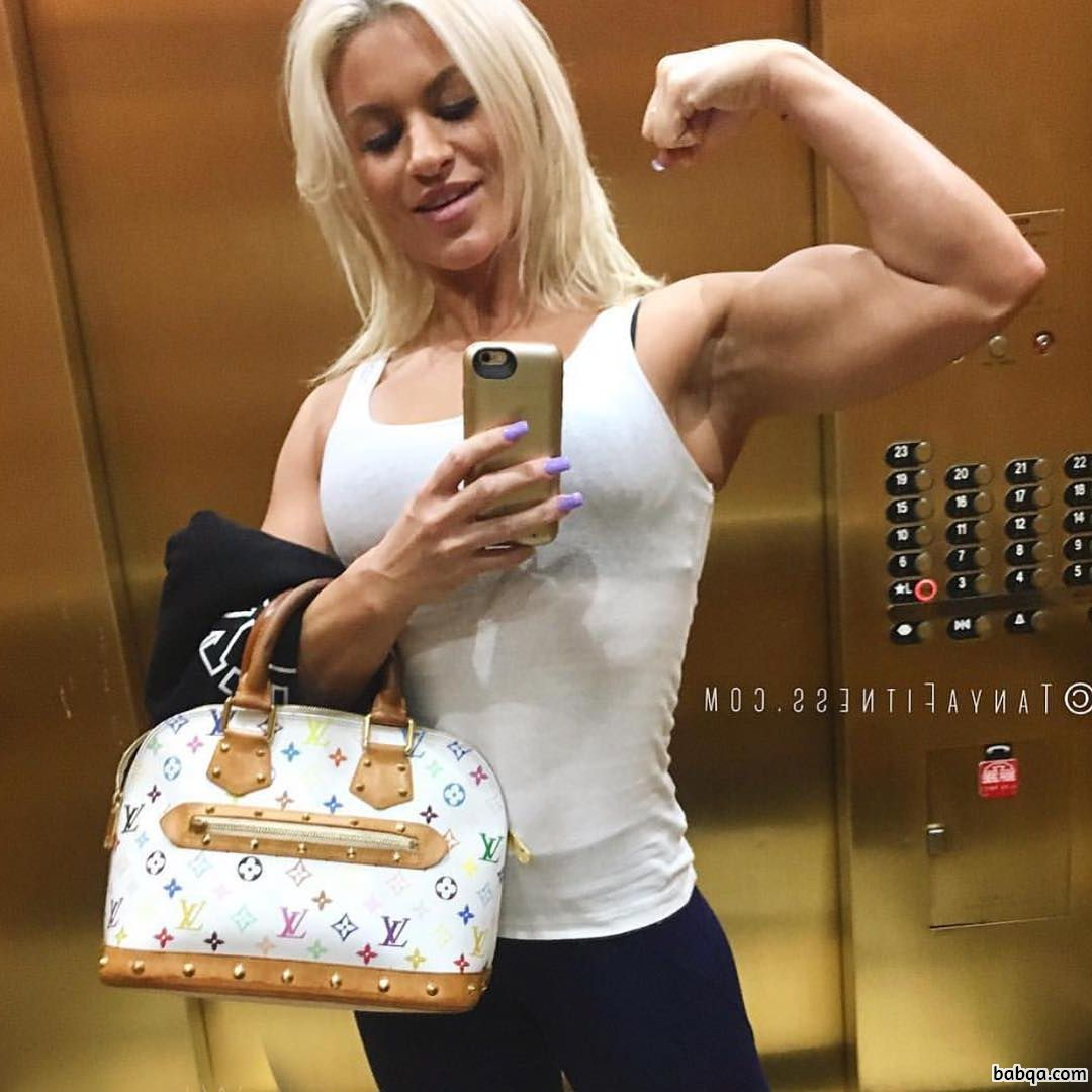 spicy female with fitness body and toned arms pic from instagram