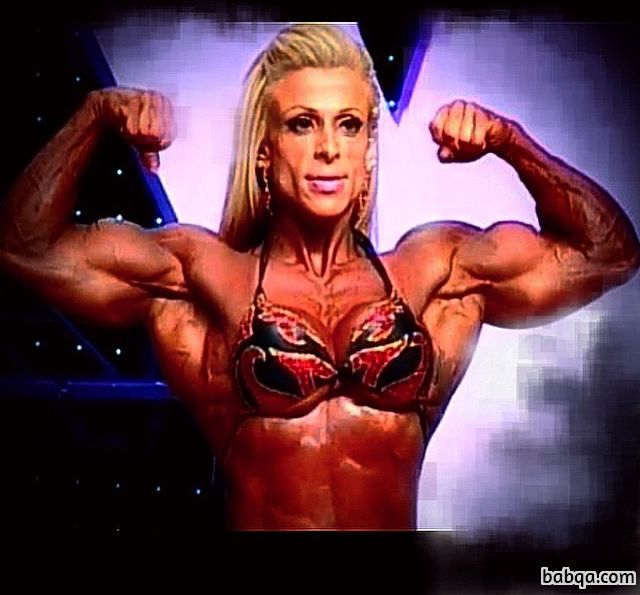 spicy female with strong body and toned biceps pic from facebook