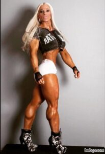 awesome babe with fitness body and muscle biceps pic from facebook