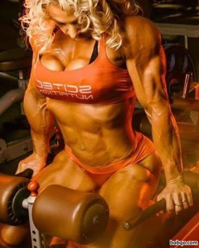 sexy lady with muscular body and toned legs post from reddit
