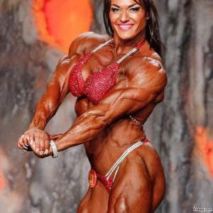 perfect female with muscular body and toned biceps post from flickr