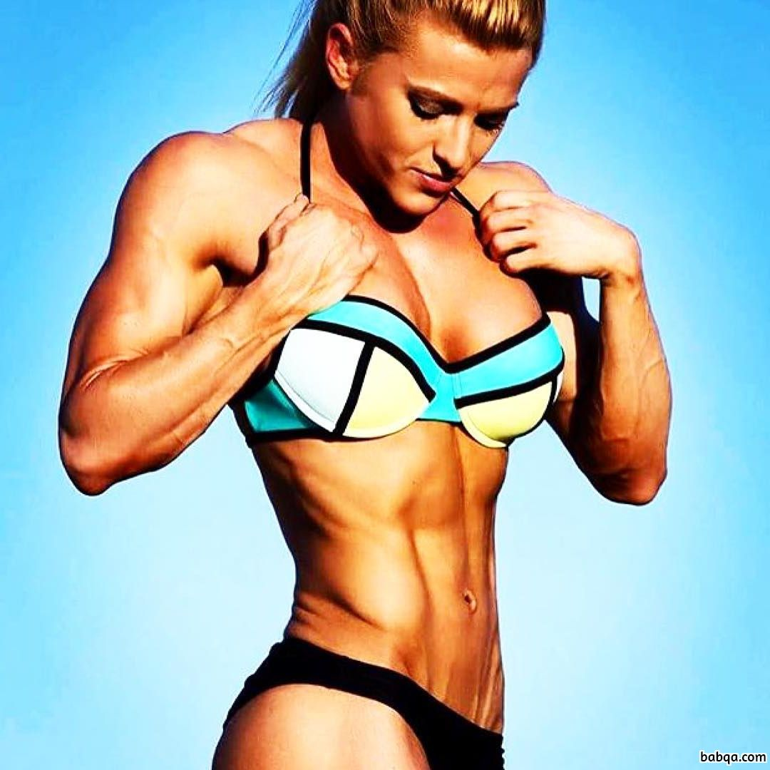 hot female with muscle body and muscle bottom image from facebook