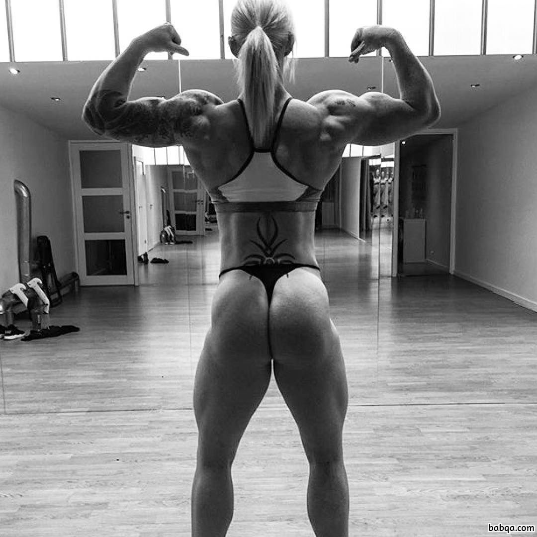 perfect woman with muscular body and toned arms picture from linkedin