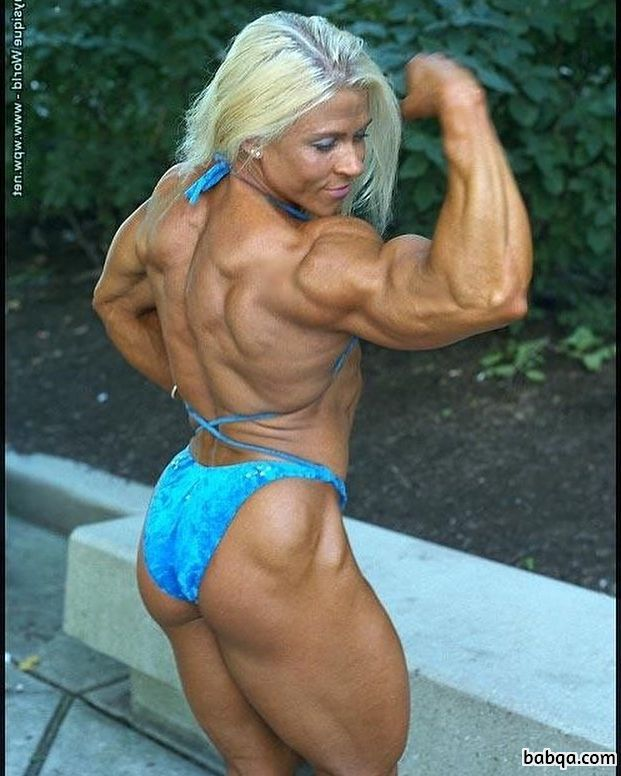 beautiful lady with muscular body and toned arms image from facebook