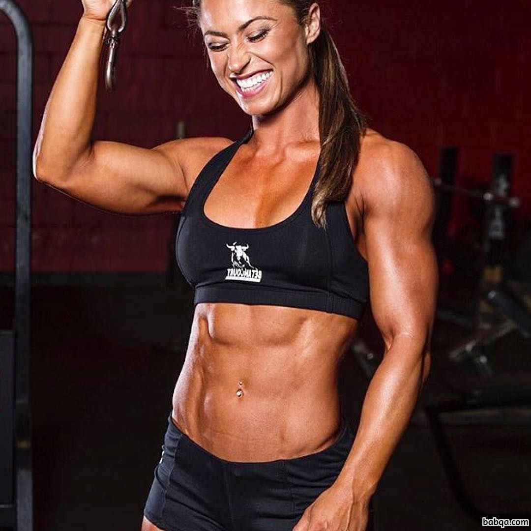 sexy lady with muscular body and muscle biceps photo from tumblr