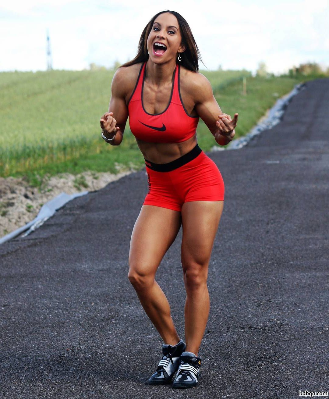 hottest female with strong body and toned booty photo from tumblr