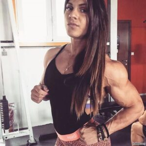 sexy lady with fitness body and muscle legs pic from facebook