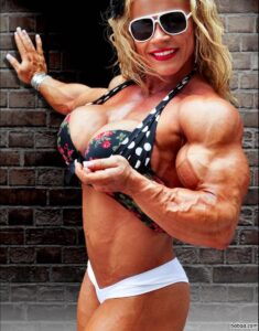 beautiful female bodybuilder with fitness body and toned arms picture from tumblr