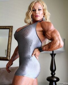 beautiful girl with muscle body and muscle arms repost from linkedin