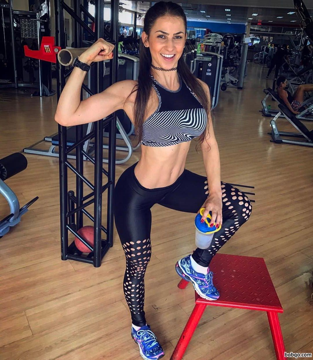 hottest lady with fitness body and muscle legs post from linkedin