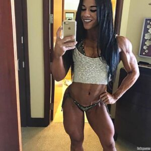 awesome chick with muscular body and toned arms picture from tumblr