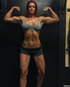 perfect woman with strong body and muscle arms post from flickr