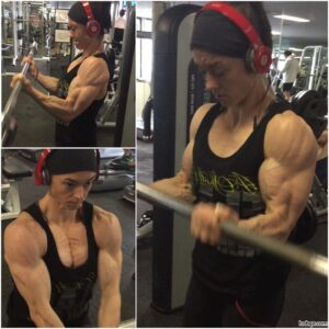 hottest girl with fitness body and muscle biceps repost from flickr