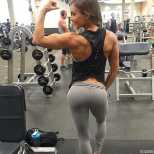 hottest female bodybuilder with muscle body and toned biceps picture from facebook