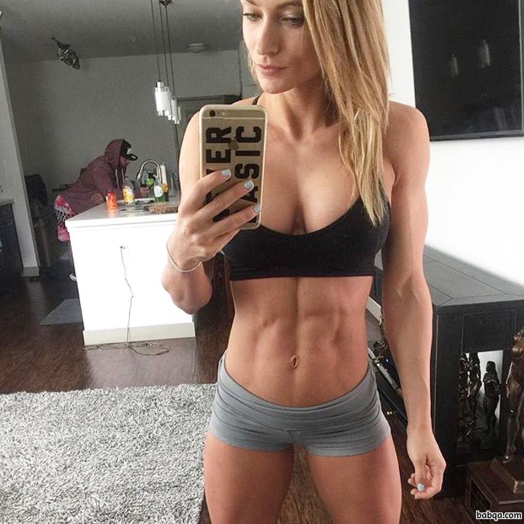 cute lady with fitness body and muscle ass post from g+