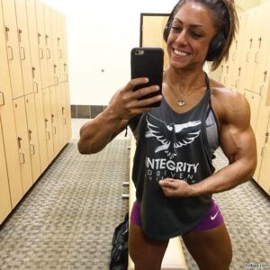 cute lady with muscular body and muscle booty photo from tumblr