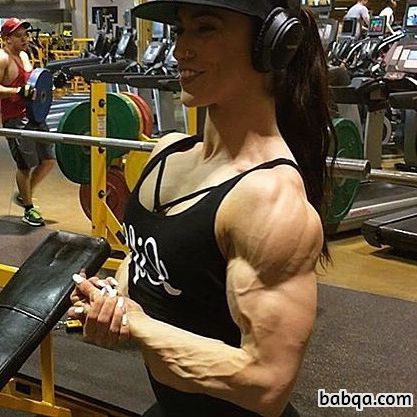 perfect babe with muscular body and muscle arms photo from facebook