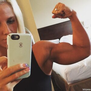 perfect female bodybuilder with strong body and muscle arms image from reddit