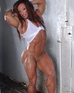 spicy chick with muscle body and toned biceps post from facebook
