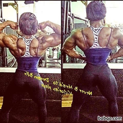 beautiful female with fitness body and muscle legs picture from reddit