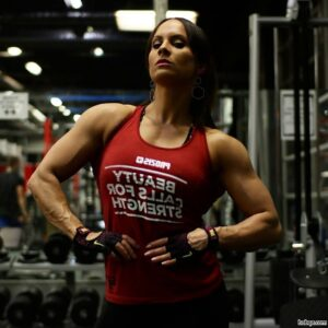 hot lady with muscle body and muscle arms repost from reddit