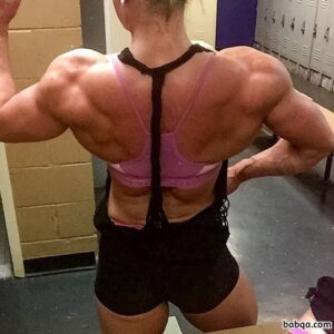 cute female with muscular body and muscle legs image from g+
