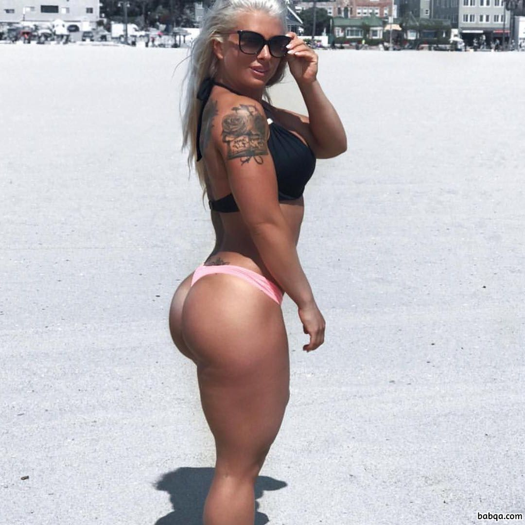 beautiful lady with strong body and toned booty repost from insta