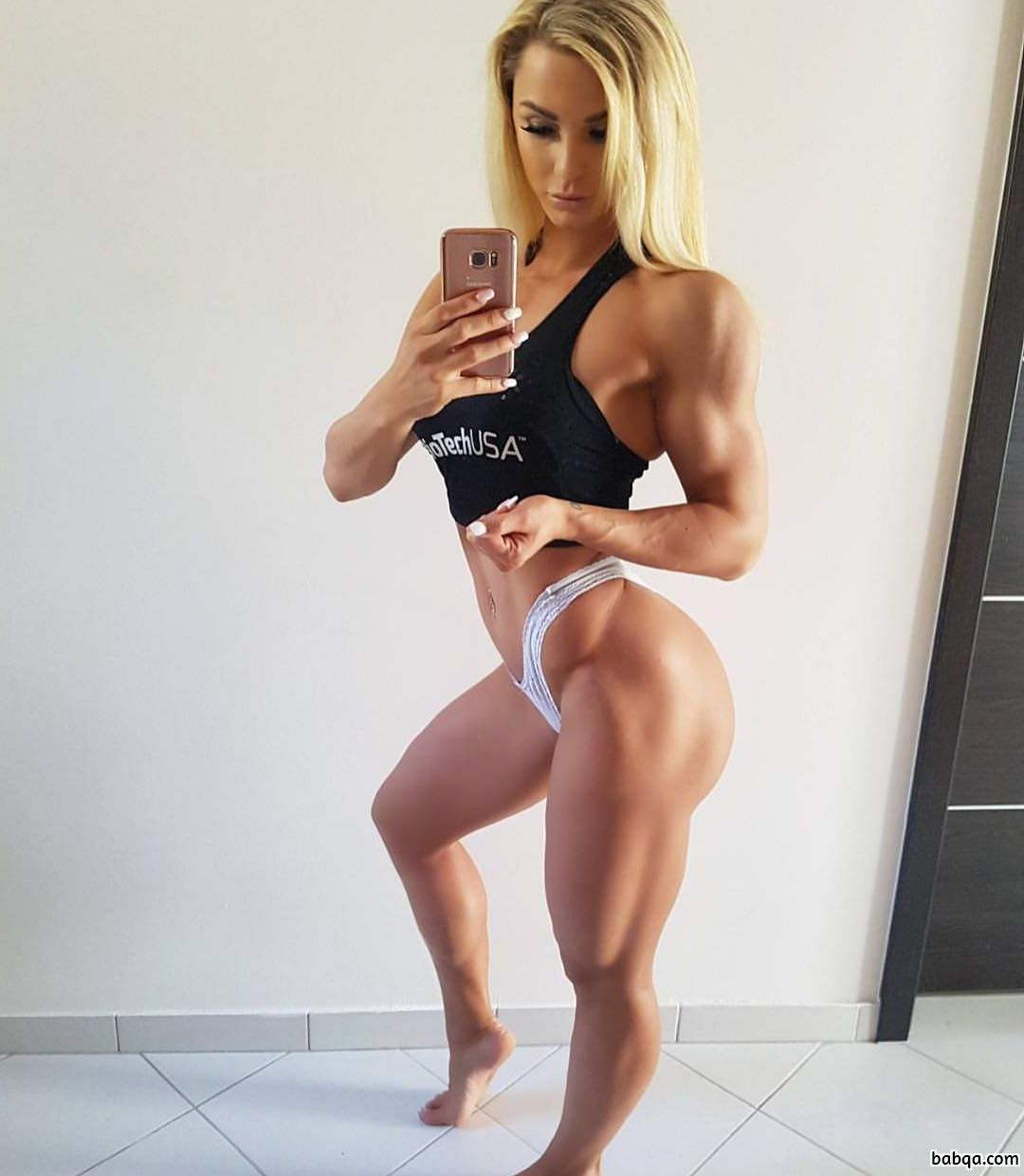hot female with muscle body and muscle arms pic from flickr