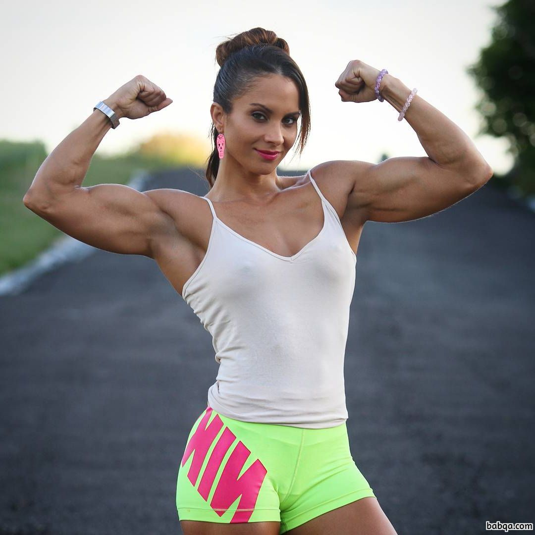 perfect chick with fitness body and muscle legs photo from tumblr